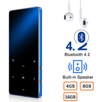 walkman bluetooth venda por atacado-MP3 player com Bluetooth 4GB 8GB 16GB HIFI Lossless Mini Music Player Com FM Radio Speaker Headphones, Esporte MP3 metal Walkman