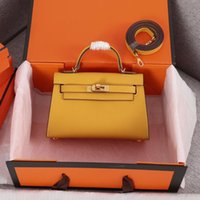 ingrosso cinghie in borsa in pelle-Classic Borse del progettista delle donne Tracolle stile Mini tracolla Tote della borsa di alta qualità borsa del cuoio genuino 19,5 centimetri freeshipping