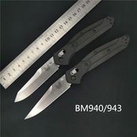 kizarma sabit bıçak av bıçakları toptan satış-Benchmade BM940 / BM943 Osborne Hızlı Katlanır Bıçak D2-AXIS Kilit, Naylon Fiberglas BM 940 BM 943 BM 781 C81 3300 BM42