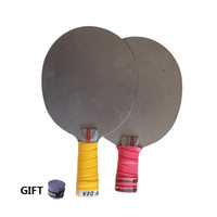 pesos de tabela venda por atacado-Lâmina de tênis de mesa de metal pingpong raquete de tênis de mesa lâmina de treinamento de peso ferro raquete de treinamento