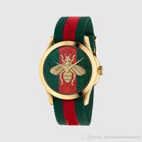 montre superman en acier inoxydable achat en gros de-mode simple motif serpent tigre petite abeille marque quartz sport en cuir montre d'horloge classique de style populaire Relogio Masculino 007