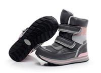 botas de nieve rusas al por mayor-Exportar a las niñas rusas botas de nieve -30 grados botas de nieve de niña madre impermeable 95% de lana