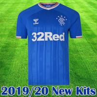 jersey camiseta venda por atacado-2019 New Rangers FC Casa Azul Camisas De Futebol 2019 2020 kits de equipamentos de Futebol de Glasgow Rangers Uniforme de Camisa de Futebol tee Maillot