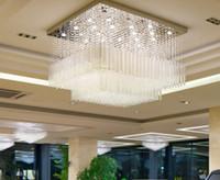 entrada de arañas modernas al por mayor-Modern Crystal Lights Rectangular Art Deco Lámparas de techo Lámparas de araña de cristal para pasillo Pasillo Entrada GU10 Bombillas LED LLFA