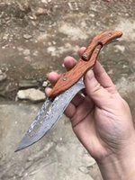 boker çeliği toptan satış-2019 The Latest Version Damascus Machinery Folding Knife, EDC Free Outdoor Survival Self-defense Tool Gift Knife