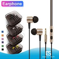 bluetooth-гарнитура для планшетов оптовых-Универсальный 3,5 мм металл для Bluetooth наушники гарнитуры с микрофоном стерео наушники-вкладыши для Iphone 11 Samsung Tablet MP3 / 4 Все мобильные телефоны