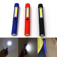 clip camp luz venda por atacado-COB LED Reparação da luz de trabalho Mini lanterna com base magnética e clipe Multifunções da lâmpada da tocha para Camping Home Power Tools ZZA1145