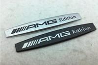 emblèmes personnalisés achat en gros de-Métal 3D AMG Lettres édition Fender Badge Emblem Sticker Decal Trunk emblème badge autocollant pour Mercedes Benz