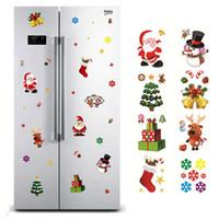 alces adesivos venda por atacado-Janela do Natal Adesivos Papai Noel / Snowman / Elk vidro Sticker Xmas Decorações de Natal para Casa Natal de Ano Novo presente Noel