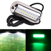ingrosso luci in barca blu-27 LED 3,6W rosso / verde / blu Subacqueo Pontoon Boat Transom Fishing Light Subacquea Waterpro of Lamp Cover Impermeabile