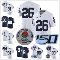 johnson shorts venda por atacado-Personalizado Penn State Nittany Lions Camisas de futebol Colégio Noah Cain Pat Freiermuth Justin Shorter Micah Parsons Jan Johnson John Reid