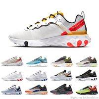 Wholesale tan tape resale online - Tour Yellow React Element Mens Running Shoes Men Women Game Royal Sail Triple Black White Taped Seams Trainers Sports Sneakers