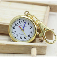 Wholesale key watch necklace resale online - Charming Key Chain Ring fashion jewelry Pocket Watch necklace pocket watch Stainless Steel Quartz
