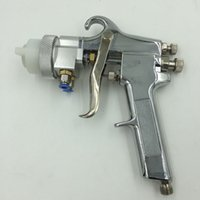 spray de nano cromo al por mayor-Aerosol Sistema de rociado SAT1182 Nano cromo neumático pintura Pistola Profesional En Chrome presión de alimentación Tipo Doble Boquilla Pistola de aire comprimido