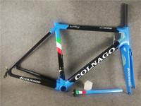 ingrosso struttura bicicletta di2-Bicicletta da strada Colnago C64 Blue Telaio telaio bici da strada in carbonio finitura lucida Di2 e meccanica entrambi