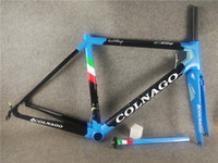 Wholesale 56cm bikes for sale - Group buy Colnago C64 Blue road bike Frame glossy finish carbon bicycle road frame Di2 And Mechanical Both