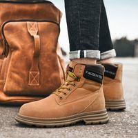 botas de caminhadas marrons homens venda por atacado-2020 moda couro de luxo Designer Botas Sapatos para Homens Mulheres triplo castanha marinha marrom mens clássico Martin tênis para caminhada ao ar livre Bota