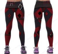 f948dfdd137ce Red Harleen Quinzel Power Flex Yoga Leggings Batman Harley Quinn Fitness  Gym Workout Running Tights Sexy Slim Skinny Pants Woman #311259