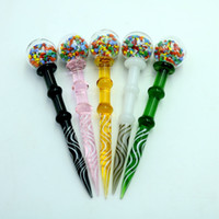 Wholesale e nails for online - 4 inch Wax Dabber Tool Carb Cap and Wax oil rigs Dab Stick Carving tool for E Nails Dab Nail and Quartz Nails