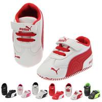 bebekler için mokasenler toptan satış-Marka Bahar Bebek Ayakkabıları PU Deri Yenidoğan Erkek Kız Ayakkabı İlk Walkers Bebek Moccasins 0-18 Ay