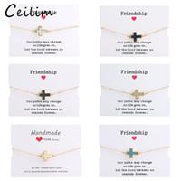 new crystal cross resin druzy charm bracelet