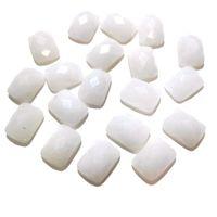 ingrosso jade cabochon-10 PZ Sezione Superficie Bianco Jade Stone Cabochon No Hole for Making Jewelry Size12x16mm