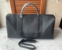 grandes sacos de bagagem de couro venda por atacado-2019 homens DUFFLE mulheres saco de viagem sacos de bagagem de mão saco designer de viagens de luxo homens pu bolsas de couro grande cruz corpo totes saco de 55 centímetros