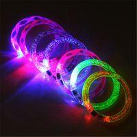 pulseiras de festa plástica luz venda por atacado-LED Dance Bangle Relógio Dos Desenhos Animados Das Meninas Dos Meninos de Pulso Pulseira de Luz Pulseiras para Aniversário do Dia Das Bruxas Brilhante Fontes Do Partido B
