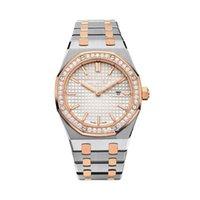 relógios de prata antigos venda por atacado-Relógios de diamante de luxo mulheres Relógios de pulso antigo de modelo clássico Relógios de pulso de luxo ouro de alta qualidade / quartzo de aço inoxidável com Diamo