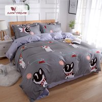 Wholesale purple rose bedspread for sale - Group buy SlowDream Cartoon Bedding Set For Children Nordic Bedspread Bed Sheet Pillowcase Double Underwear Stain Euro Cover Set