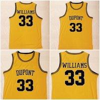 camiseta de baloncesto color amarillo al por mayor-Hombres Baloncesto Jason 33 Williams High School Dupont Jerseys Venta Equipo Color Amarillo Bordado Y Costura Transpirable Excelente calidad