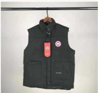 ingrosso maglia giacca sportiva-Vest Mens Giacche Moda Canada europea Blu Grigio Nero donne cappotto Piumini Outdoor Sports Cold Winter vacanze