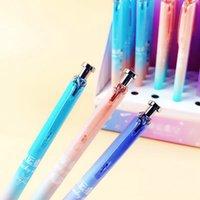 kore çocukları yıldızı toptan satış-Çocuklar Yazma Okulu İçin Sevimli Kawaii Ay Yıldız Plastik Mekanik Kalem Yaratıcı Sky Otomatik Kalemler Koreli Kırtasiye
