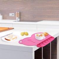 silikon schalen kinder großhandel-4 Farben Baby Silicon Plate Sucker Rutschfeste One Piece Baby Silikon Tischset Schüssel Wasserdicht Kind Essteller Geschirr