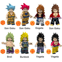 ingrosso mattone di drago-Dragon Ball Z Son Goku Gogeta Broli Burdock Vegeta Mini Action Figure Toy Building Block Mattoni