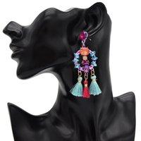 ingrosso gioielli della coclea-L'orecchino alla moda della nappa di nuovo stile la via popolare del euramerican è accarezzato il gioiello delle donne del pendente dell'orecchino della coclea dei gioielli Gif