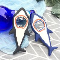 Wholesale shark beer opener for sale - Group buy Shark Shaped Bottle Opener Keychain shaped Silver Color Key Ring Beer Bottle Opener Unique Creative Gift CT0419