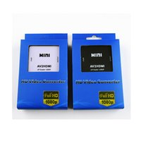 Wholesale Hdmi Cable - AV2HDMI RCA AV to HDMI Converter Adapter Mini Composite CVBS to HDMI Converters With Retail Package 1080P