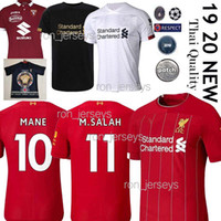 Wholesale thai kits resale online - Thai New SALAH FIRMINO Mens Soccer Jerseys Kit LALLANA Champions League VIRGIL M SALAH MANE ORIGI ARNOLD Football Shirts