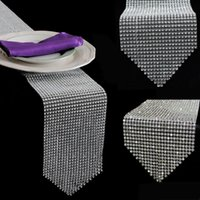 Wholesale diamond rhinestone table runners for sale - Group buy New CM quot X quot Diamond Table Runner Mesh Rhinestone Table Runner Wedding Party Decorations Home Accessories