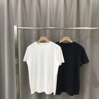 camisa o cuello negro al por mayor-2020ss primavera y el nuevo algodón de alto grado del verano impresión de manga corta ronda panel de cuello de la camiseta Tamaño: M-L-XL-XXL-XXXL Color: negro blanco qq19