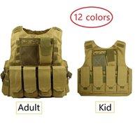 Wholesale combat uniform resale online - Parent child Children Adult Vest Hunting Clothes Kids Boy Girl hunting Combat Army Tactical Uniform Jungle Airsoft Cs Clothing
