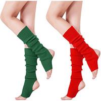 Wholesale ballet birthday party resale online - 10 colors Ballet Leg Warmers woman children knitting Socks Crochet Yoga socks Warmer baby Leggings socks MMA2619