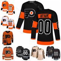 xxxl mascote venda por atacado-Homens Crianças Mulheres Philadelphia Flyers Mascote GRITTY Jersey Hóquei no Gelo James van Riemsdyk Travis Sanheim Oskar Lindblom Laranja Branco Preto Verde