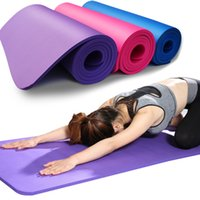 tapetes de ginástica venda por atacado-183 * 61cm NBR Yoga Mats Lose Weight Solid Color Anti-skid Gymnastic Sport Health Fitness Umid-Proof Espuma Pad High Quality