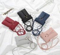 mini runde geldbörsen taschen großhandel-36pcs Leder neue Handtasche Mini Trend Runde Schnalle Quaste Geldbörse Schulter Messenger Bag Cross Body