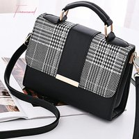 Wholesale shoulder bag minimalist for sale - Group buy New Plaid Small Square Package Minimalist Fashion Stitching Wild Messenger Shoulder Bag Ms Packet