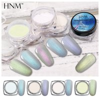 Wholesale holographic glitter nail art resale online - HNM g Holographic Powder Dust Dipping Powder Nails Pigment Glitters Acrylic Sliver Nail Art Glitter Nail