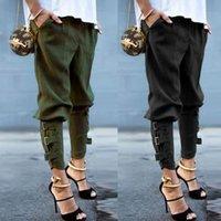 ingrosso pantaloni eleganti-Pantaloni da donna di design a tinta unita Pantaloni a vita media da donna a fascia a metà vita Elegante abbigliamento da donna streetwear