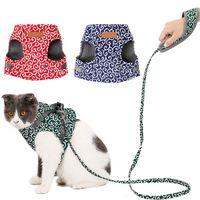 Wholesale led dog clothes resale online - Lovely Pet Cat Japan Style Cloth Vest Cat Harness And Leash Set Nylon Mesh Kitten Puppy Dogs Vest Harness Leads Pet Clothes